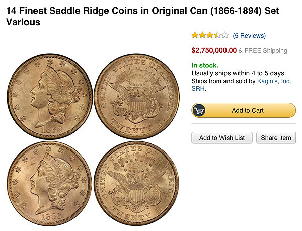 saddle ridge coins amazon